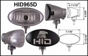 "Eagle Eye Lighting | HID and Non HID Lights - HID External Lights - Eagle Eye Lights - Eagle Eye Lights HID965D 8"" Aluminum DieCast SILVER 35W External Ballast HID Driving Clear Oval HID Off Road Light with ABS Cover Each"