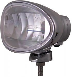 "Eagle Eye Lighting | HID and Non HID Lights - HID External Lights - Eagle Eye Lights - Eagle Eye Lights HID965D50W 8"" Aluminum DieCast SILVER 50W External Ballast HID Driving Clear Oval HID Off Road Light with ABS Cover Each"