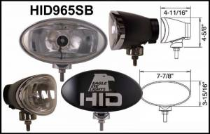 "Eagle Eye Lighting | HID and Non HID Lights - HID External Lights - Eagle Eye Lights - Eagle Eye Lights HID965SB 8"" Aluminum DieCast Black 35W External Ballast HID Spot Clear Oval HID Off Road Light with ABS Cover Each"