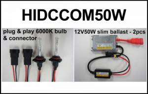 Eagle Eye Lighting | HID and Non HID Lights - UTV HID Conversion Kits - Eagle Eye Lights - Eagle Eye Lights HIDCCOM50W 2011-2012 Can Am Commander 50W HID Upgrade Kit