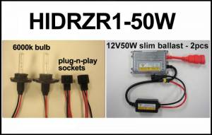 Eagle Eye Lighting | HID and Non HID Lights - UTV HID Conversion Kits - Eagle Eye Lights - Eagle Eye Lights HIDRZR1-50W 2011-2012 Polaris RZR 50W HID Upgrade Kit