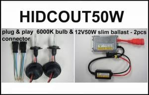 Eagle Eye Lights HIDCOUT50W 2006-2012 Can Am Outlander 50W HID Upgrade Kit