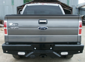 Truck Bumpers - Frontier Gear - Frontier 100-10-9011 Rear Bumper with Sensor Holes and Lights Ford F150 2009-2014