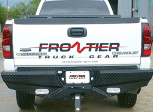 Truck Bumpers - Frontier Gear - Frontier 100-21-1013 Rear Bumper with Sensor Holes and Lights Chevy Silverado 2500HD/3500 2011-2014