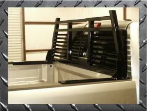 B Exterior Accessories - Headache Racks - Frontier Gear - Frontier Gear 110-20-7006 2HR Headache Rack Chevy/GMC 1500/2500/3500HD Full Louvered 2007-2015