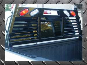 Frontier 2HR Headache Rack - Chevy/GMC - Frontier Gear - Frontier Gear 110-28-8008 2HR Headache Rack Chevy/GMC 1500/2500/3500HD Full Louvered With Lights (1988-2006)