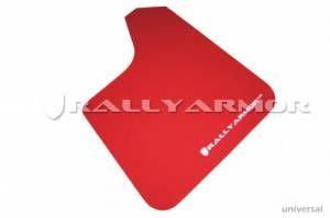 Exterior Accessories - Mud Flaps - Rally Armor - Rally Armor MF12-UR-RD/WH UR Series Red Mud Flap with White Rally Armor Logo Universal Fit