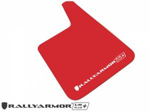 "Mud Flaps by Vehicle - Mud Flaps for Cars - Rally Armor - Universal UR Plus Red Mud flap with White Logo 11.5"" x 19"""