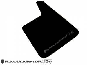 "Mud Flaps by Vehicle - Mud Flaps for Cars - Rally Armor - Universal UR Plus Black Mud flap with Grey Logo 11.5"" x 19"""