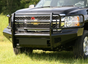 Truck Bumpers - Fab Fours Black Steel - Chevy Silverado 2500/3500 2011-2014