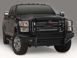 Truck Bumpers - Fab Fours Black Steel - Ford Super Duty 2011-2015