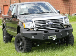 Fab Fours Premium - Front Winch Bumper with Pre-Runner Bar - Ford