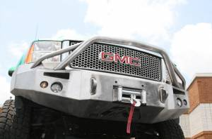 Fab Fours Premium - Front Winch Bumper with Pre-Runner Bar - GMC