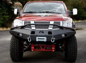 Fab Fours Premium - Front Winch Bumper with Pre-Runner Bar - Nissan