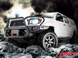 Front Winch Bumper - Toyota - Fab Fours - Fab Fours TT05-B1550-1 Full Grille Guard Winch Front Bumper Toyota Tacoma 2005-2011