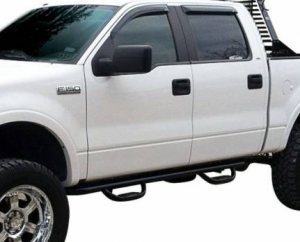 "B Exterior Accessories - Running Boards and Nerf Bars - Westin GenX 4"" Oval Tube Nerf Bars"