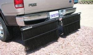 Mud Flaps for Trucks - Towtector Brush System - Towtector Pro Rock Guard (Black Steel Frame)
