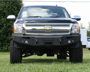 Bumpers - Fab Fours Front Bumper with No Grille Guard - Chevy