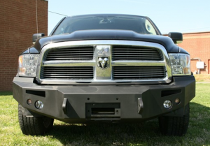 Bumpers - Fab Fours Front Bumper with No Grille Guard - Dodge