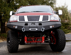 Bumpers - Fab Fours Front Bumper with No Grille Guard - Nissan