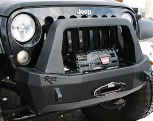 Jeep Bumpers - Rock Slide Engineering - Rock Slide FB-S-100-JK Shorty Front Bumper with Bullbar Jeep Wrangler JK 2007-2017