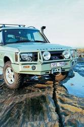 Truck Bumpers - ARB 4x4 Accessories - ARB 3432120 Front Deluxe Bull Bar Winch Bumper Land Rover Discovery 2003-2004