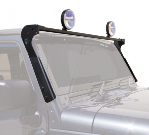 Light Bars - Carr Light Bars - Jeep XRS Rotate Windshield Light Bar