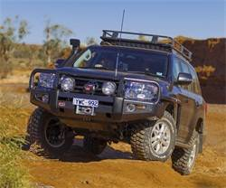 Toyota Land Cruiser - ARB 4x4 Accessories - ARB 3415150 Front Deluxe Bull Bar Winch Bumper Toyota Land Cruiser 2013-2014