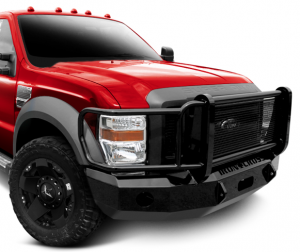 Truck Bumpers - Iron Cross - Winch Front Bumper with Full Grille Guard
