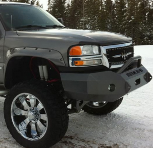 Truck Bumpers - Iron Cross - Winch Front Bumper with Push Bar
