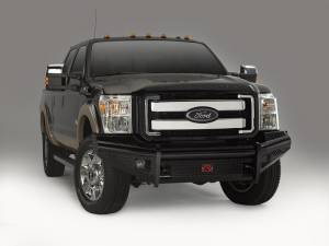 Black Steel Bumpers by Fab Fours - Ford Super Duty 2011-2015 - Fab Fours - Fab Fours FS11-S2561-1 Black Steel Front Bumper Ford F250/F350 2011-2016