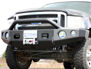Truck Bumpers - Trail Ready - Ford F450/F550 2004 Pinched End Crash Bar