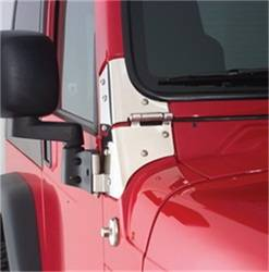 Glass and Window - Windshield Hinge - Smittybilt - Smittybilt 7603 Windshield Hinge