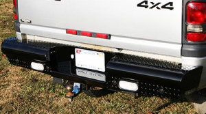 Rear Bumpers - Fab Fours Black Steel