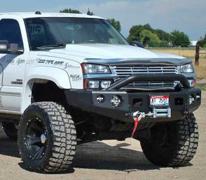 Trail Ready - Trail Ready 10501P Winch Front Bumper with Prerunner Guard GMC 1500 Yukon 2000-2006